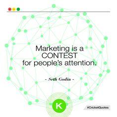 """""""Il marketing è una gara per l'attenzione della gente"""" Seth Godin  #quote #citazione #marketing #sales #business"""
