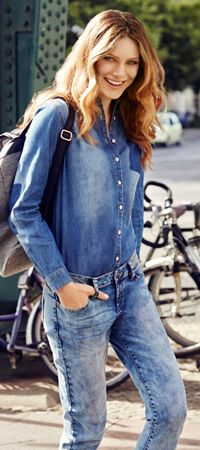 Jeansowy Trend w Cool Picks, Modern Outfits, Denim Fashion, Troll, Take That, Chic, Casual, Jackets, Collection