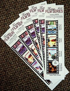 Great way to highlight an upcoming film series! by Lester Public Library, via Flickr