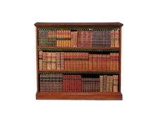 A late Victorian  mahogany open bookcase,  circa 1900, with two  adjustable shelves - Dim: 114cm high, 130cm, 35cm deep.