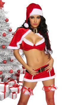 Sexy Weihnachts Weihnachtsfrau Damen  Set Weihnachtskostüm Weihnachtskleid Gr:OS