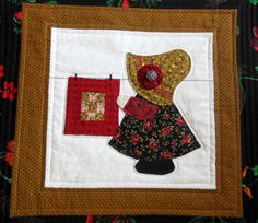 CELEBRATE QUILTING with Sunbonnet Sue Wall by QuiltingFrenzy, $65.00