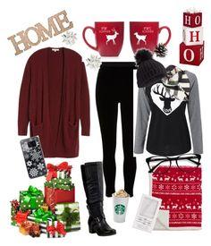 """Comfy Christmas"" by atenhundfeld ❤ liked on Polyvore featuring River Island, Madewell, Miz Mooz, Alpine, Home Essentials, Forever 21, Samsung, Burberry, Miss Selfridge and EyeBuyDirect.com"