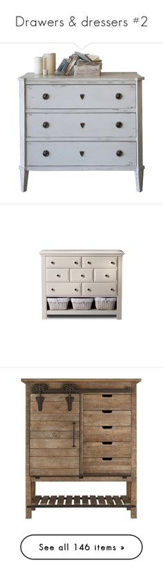 """""""Drawers & dressers #2"""" by sally-simpson ❤ liked on Polyvore featuring home, furniture, storage & shelves, beige furniture, hardware furniture, european furniture, antique white furniture, euro furniture, armoires and storage armoire"""