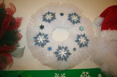Snowflakes & white tulle...really came out exactly prefect