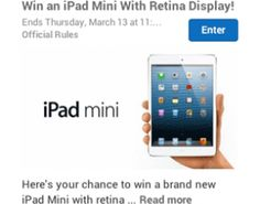 Win a Free iPad mini Retina Sponsored by I4U News