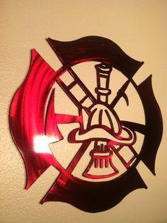 I absolutely love this!  Custom Firefighter Maltese Cross by CustomMetalWorks on Etsy, $70.00