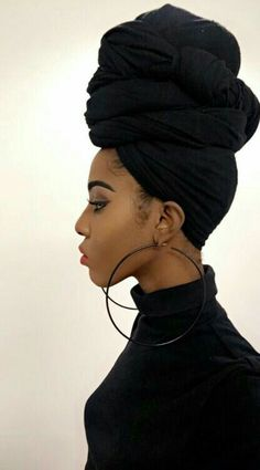 Popular afro hairstyles for woman – My hair and beauty My Hairstyle, Scarf Hairstyles, Makeup Hairstyle, Hairstyle Ideas, Turban Mode, Tie A Turban, Coiffure Hair, Twisted Hair, Twisted Ponytail