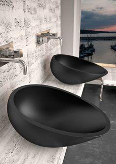 Moderne waschbecken schwarz mit originellem design