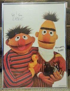 Vintage1978 Hi from Ernie Regards Bert Poster Sesame Street 18 x 24  Framed #Vintage