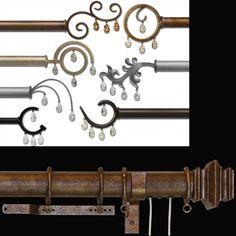 Wrought Iron Decorative Hardware Custom Made By Ona Drapery