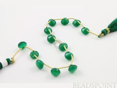 Natural ''NO TREATMENT'' Green Onyx Faceted Small Onion, Glamorous Green AAA Quality 5x8mm, 1 Full Strand, (GRX5X8Onion)