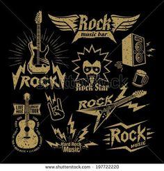 Rock Music - stock vector