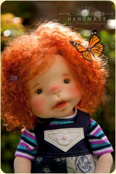 Little Pumpkin. Red-haired doll. Waldorf inspired by kiwinestling
