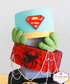 Superohero Cake-3 by dainty baker, via Flickr