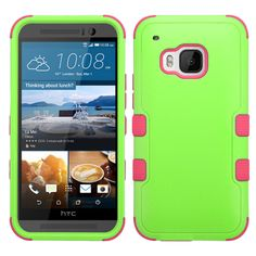 MYBAT HTC One M9 Case TUFF Hybrid Series - Pearl Green/Pink