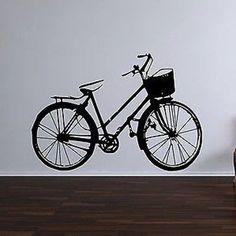 Classic Bike Vinyl Wall Decal Sticker