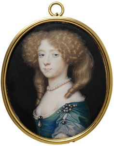 Richard Gibson, portrait of an unknown woman (possibly Frances Jennings, sister of Sarah, Duchess of Marlborough, lived from c. Louis Xiv, John Smith, Miniature Portraits, Miniature Paintings, 17th Century Fashion, 18th Century Costume, Historical Art, Victoria And Albert Museum, British History