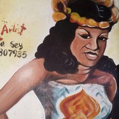 """""""Welcomed by the beautiful local painted signs in Albert Market, Banjul, The Gambia"""" Nour Flayhan and her Visual Diary of Africa for ecru. #ecru #nourflayhan #illustrator #africa #travel #visit #painted #streets #signs #of #africa #noursvisualdiaryofafrica"""
