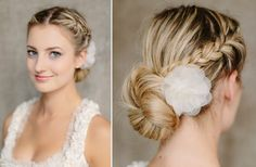Chic Wedding Updo with braid