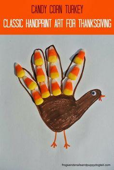Candy Corn Turkey- Classic Handprint Art for Thanksgiving