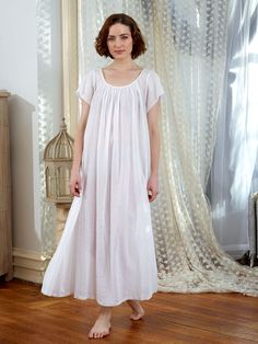 A few things really were better way back when and cotton nighties and calico prints are one of them! Feminine and free of annoying elastics, the Prairie nighty is simple and beautiful, and a guarantee to bring the wearer much joy. Sleep Dress, Baby Dress, Cotton Nighties, Nightgown Pattern, April Cornell, Layered Skirt, Girl Outfits, Short Sleeve Dresses, Clothes For Women