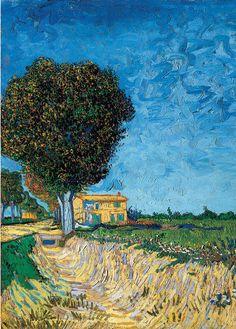 A Lane near Arles by Vincent Van Gogh.