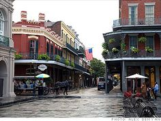 The beautiful French Quarter of New Orleans.