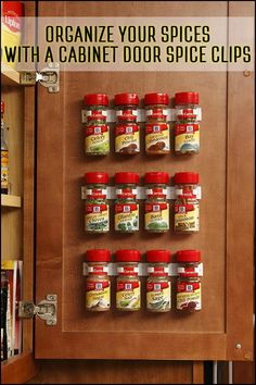 Give your spice jars the space, visibility and easy access they (and you) deserve, without taking up a lot of space in your drawer, shelf or counter.
