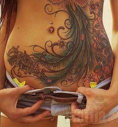 Peacock Tattoo Designs Beauty on beauty. The wonders of tattoos. [ ]Beauty on beauty. The wonders of tattoos. Pfau Tattoo, 4 Tattoo, Tatoo Art, Body Art Tattoos, Tribal Tattoos, Sleeve Tattoos, Cool Tattoos, Tummy Tuck Tattoo, Lower Stomach Tattoos