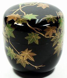 Natsume tea caddy, lacquer, maple tree, Soko Dojo, Japan, 20th c (item #343311, detailed views)