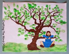 Zacchaeus -- Would be cute to use the kids' thumbprints for leaves.