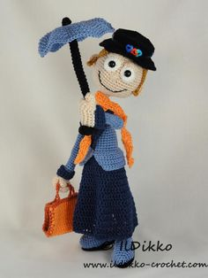 Looking for your next project? You're going to love Mary Poppins - Amigurumi Pattern by designer IlDikko. - via @Craftsy