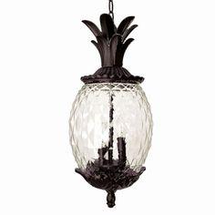 21 Inch Tall Dark Bronze Pineapple Outdoor Hanging Lantern Light Is Made By The Brand Goodman Outdoor Hanging Lanterns Hanging Lantern Lights Hanging Lanterns