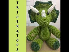 Crochet Toys Patterns, Amigurumi Patterns, Stuffed Toys Patterns, Crochet Dinosaur, Chrochet, Crochet Projects, Dinosaur Stuffed Animal, Make It Yourself, Dolls