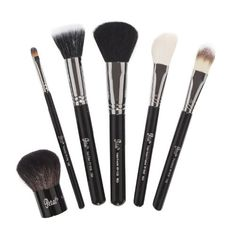 6 Piece Petal Beauty Basic Collection Face makeup Brush set $95 Value - Black >>> Click on the image for additional details.