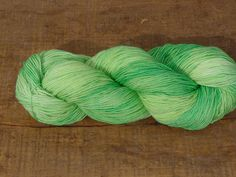 Superwash Merino/Nylon Sock Yarn 100 g Atomic Lettuce 1. $20.00, via Etsy.