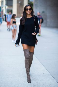 Makeup-free Kelly Gale, flaunted her trim pins in a black LBD in New York on Saturday, as she prepares to walk the Victoria's Secret runway, later this year Star Fashion, Fashion Models, Fashion Outfits, Womens Fashion, East Coast Style, Victoria's Secret, Glamour, Famous Women, Hot Pants