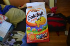 the snack that smiles back  the goldfish in colors will be a colorful salty snack at a candy themed party! (: