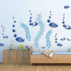 Under The Sea Wall Decals, Fish Wall Stickers, Removable Fish Sea Stickers for…