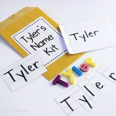 Name Kits: Tools for Teaching Young Children Their Names