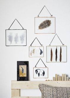 Fotolijstje zwart metaal met lederen ophangkoord Madam Stoltz shop je online bij DEENS.NL.