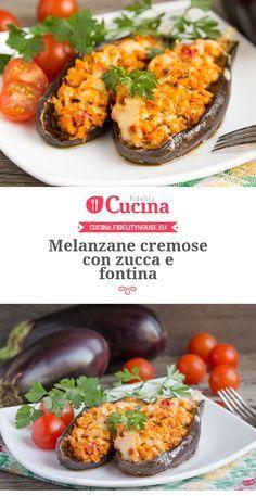 #Melanzane cremose con #zucca e #fontina