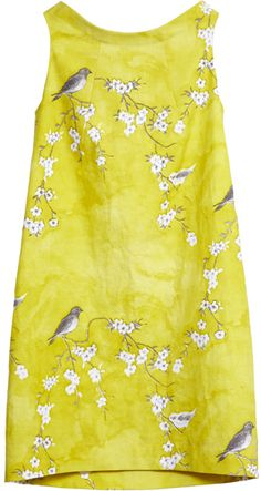 bird and blossom dress