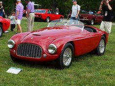 Me driving this car is like a poor man marrying a supermodel.    old 1951 Ferrari 212 Inter Barchetta-red-classic car.