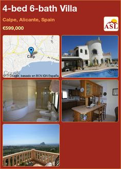 4-bed 6-bath Villa in Calpe, Alicante, Spain ►€599,000 #PropertyForSaleInSpain