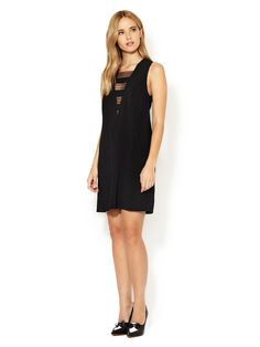Angie Semi-Sheer Combo Shift Dress by Tocca at Gilt