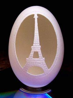 Eggshell Carving Art.