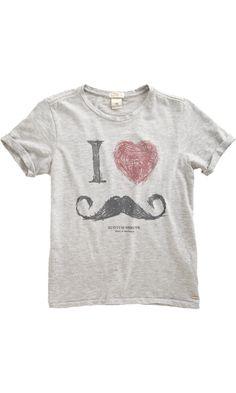 Scotch Shrunk I Love Mustaches Tee $46
