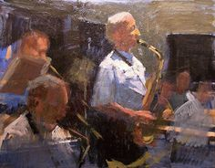 The Session by Joseph Gyurcsak Acrylic 11 x 14 Painting Competition, Online Painting, Joseph, Scene, Watercolor, Jazz, Inspire, Artists, Inspiration
